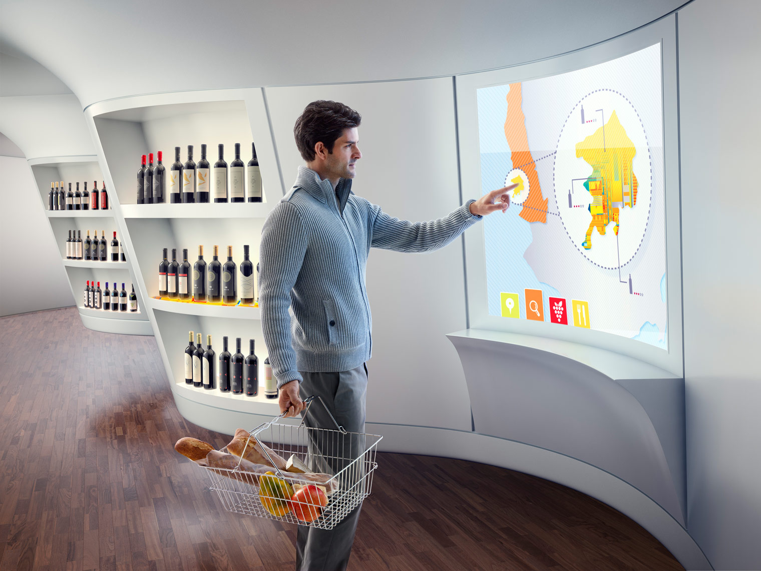 Technology Brand - Wine Display